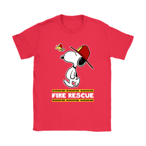 Firefighter Fire Rescue Woodstock Snoopy Shirts 12