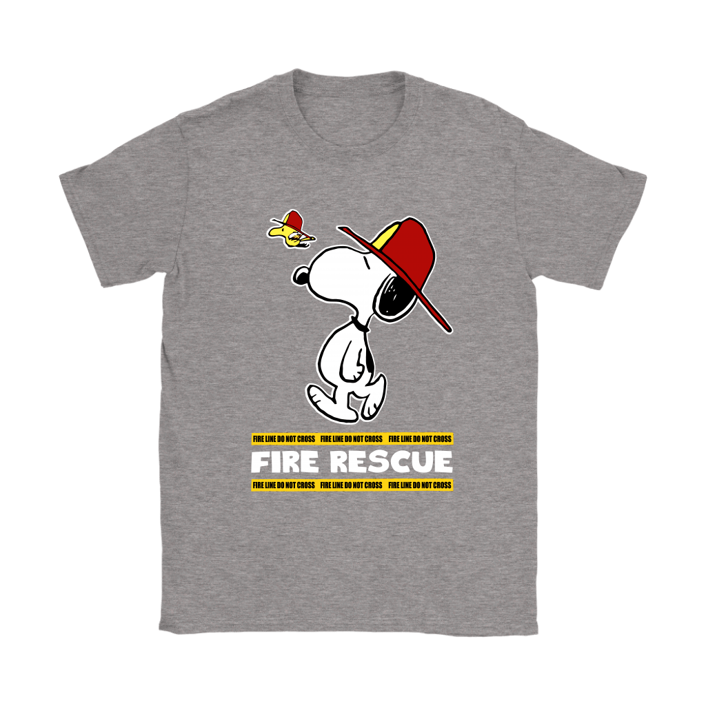 Firefighter Fire Rescue Woodstock Snoopy Shirts 14