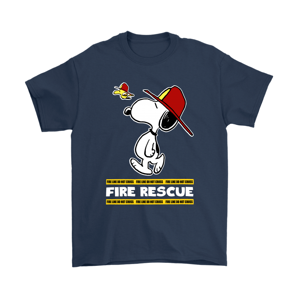 Firefighter Fire Rescue Woodstock Snoopy Shirts 3