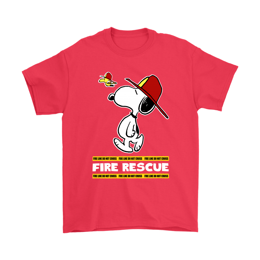 Firefighter Fire Rescue Woodstock Snoopy Shirts 5