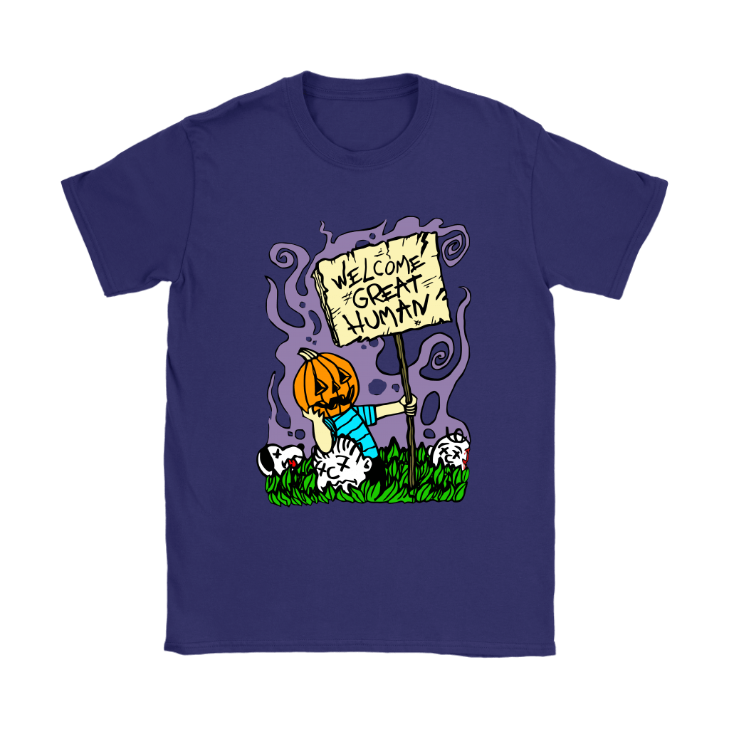 Great Pumpkin Massacre Welcome Great Human Halloween Snoopy Shirts 11