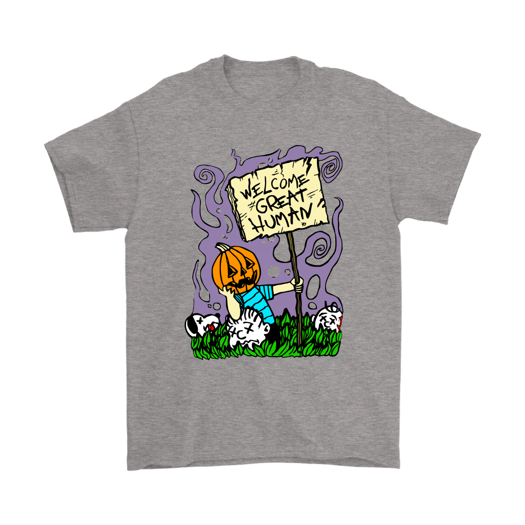 Great Pumpkin Massacre Welcome Great Human Halloween Snoopy Shirts 6