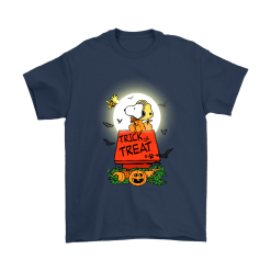 Halloween Trick Or Treat Pumbkin Woodstock And Snoopy Shirts 10