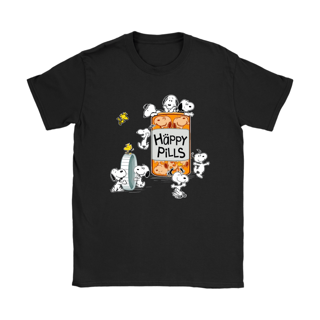 Happy Pills Always Be Happy Woodstock And Snoopy Shirts 8