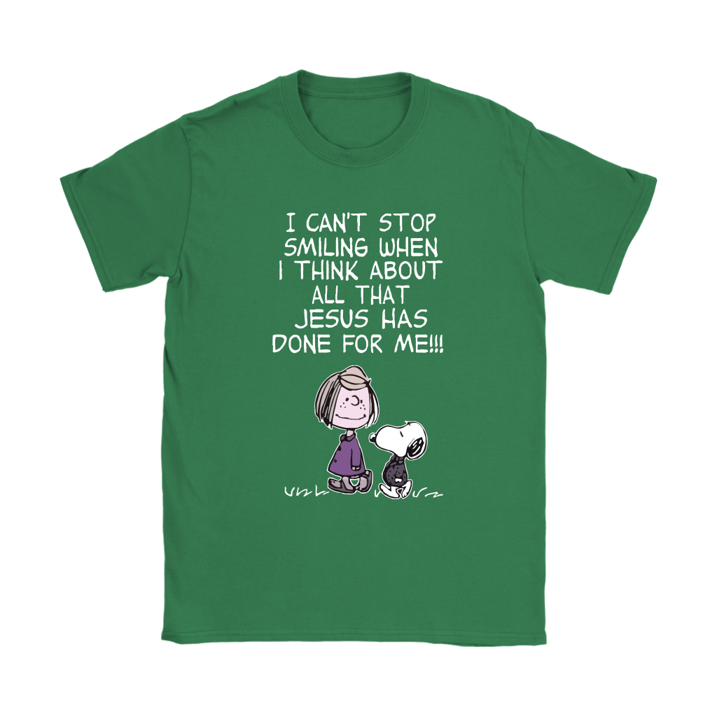 I Can't Stop Smiling When I Think About Jesus Snoopy Shirts 14