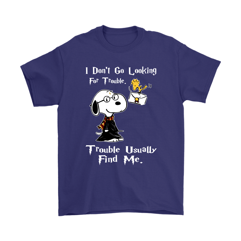 I Don't Go Looking For Trouble Harry Potter x Snoopy Shirts 4
