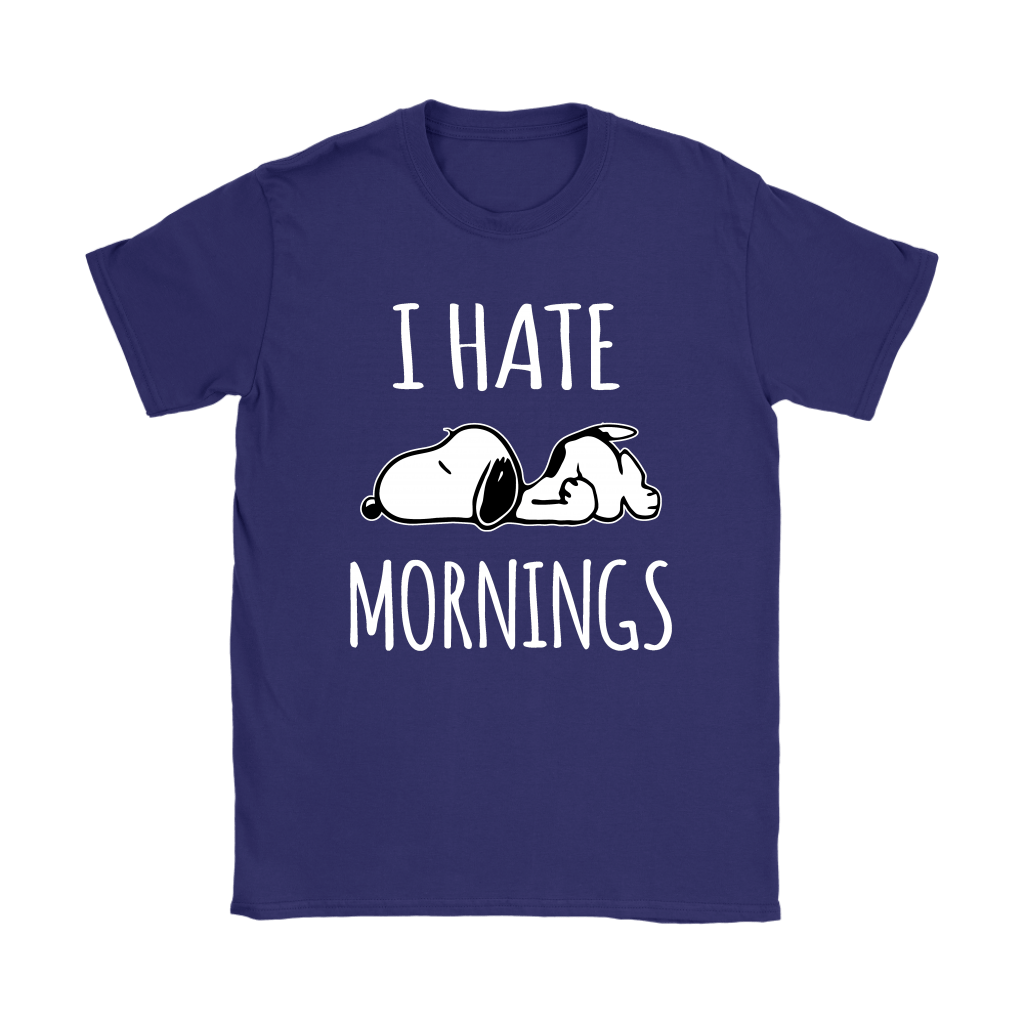 I Hate Morning Tired Snoopy Shirts 11