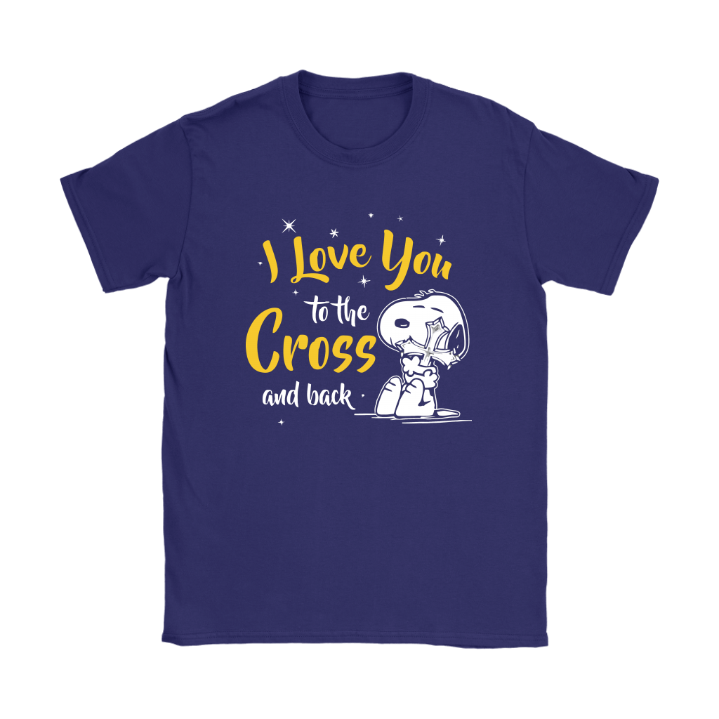 I Love You To The Cross And Back Snoopy Shirts 10