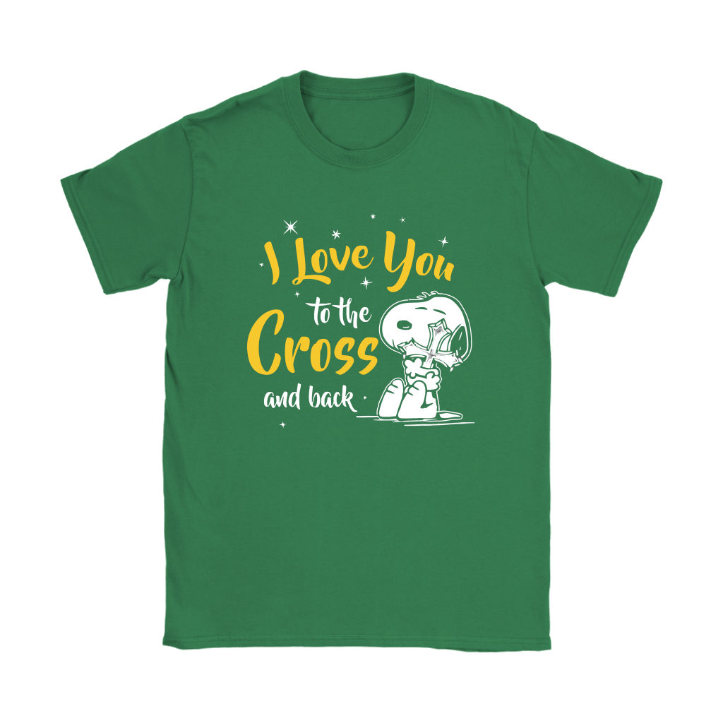 I Love You To The Cross And Back Snoopy Shirts 12