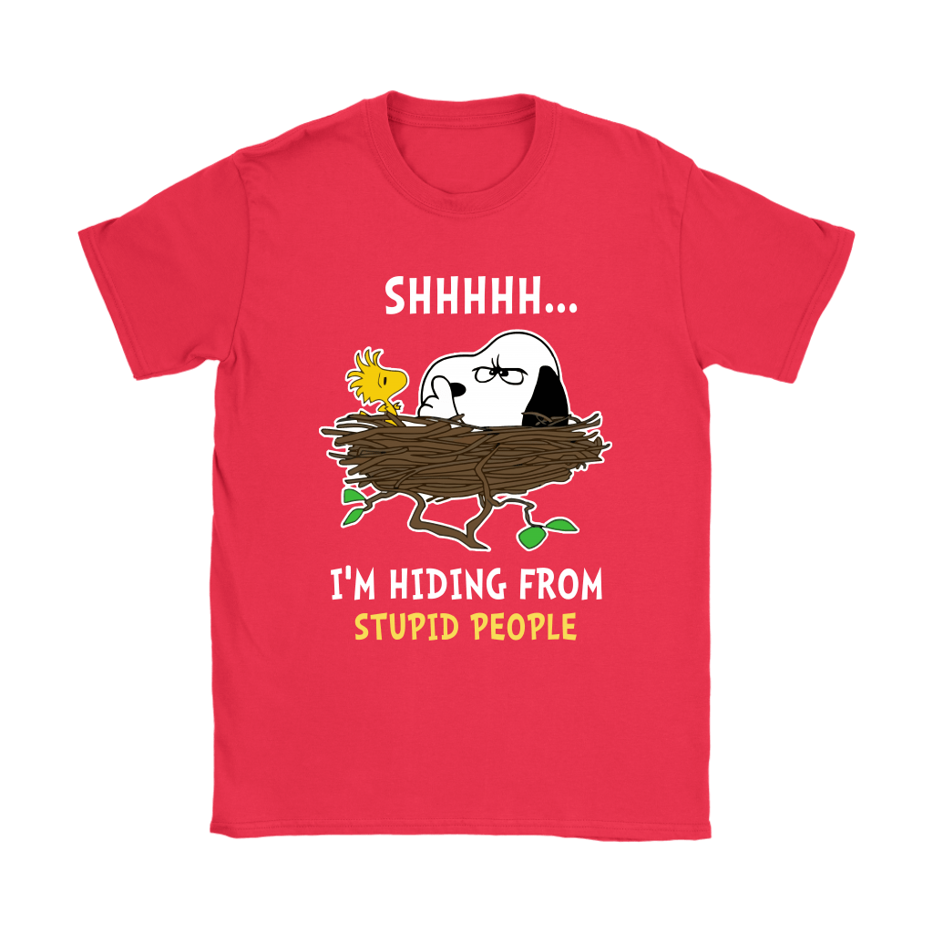 I'm Hiding From Stupid People Snoopy Shirts 12
