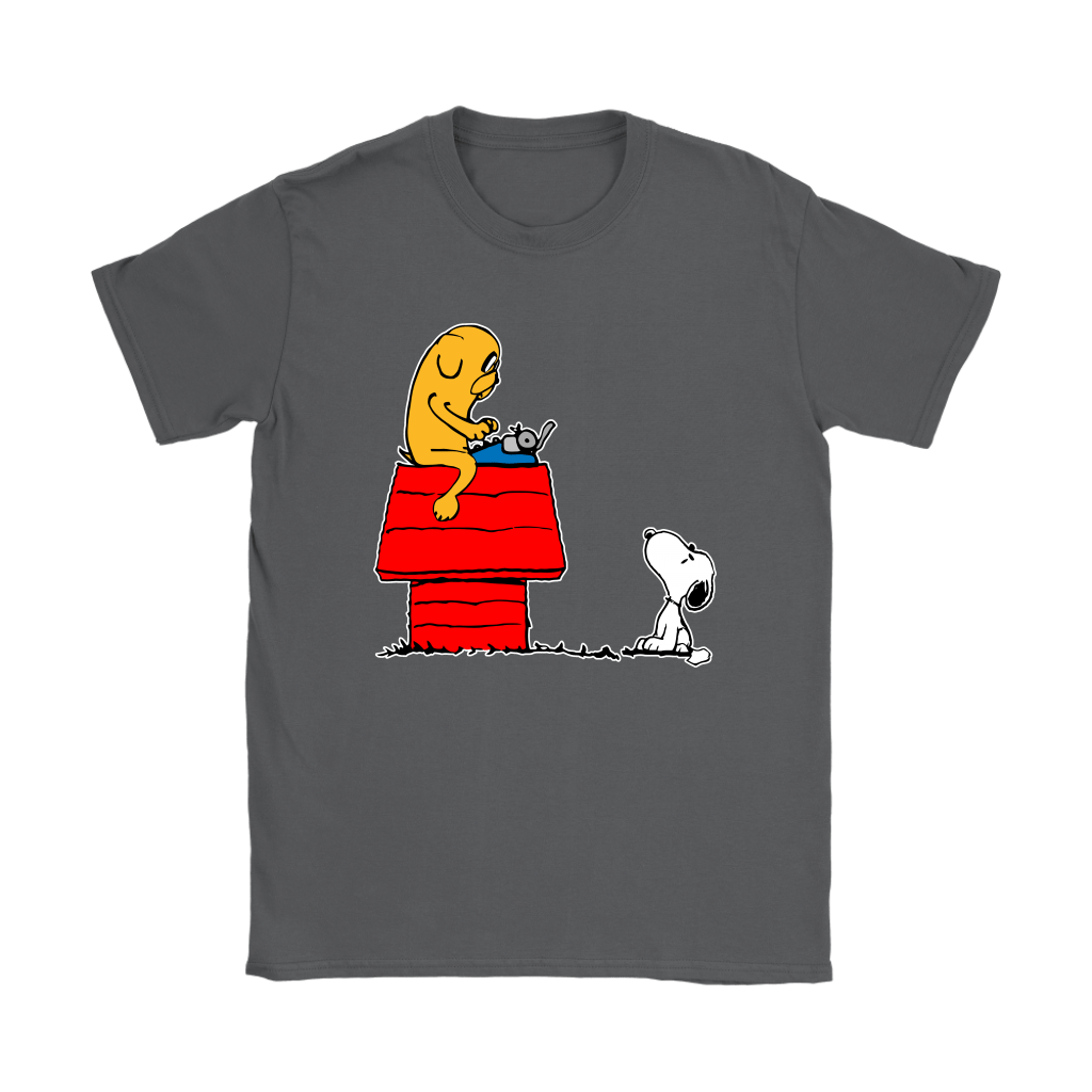 Jake And Snoopy Adventure Time Mashup Shirts 9