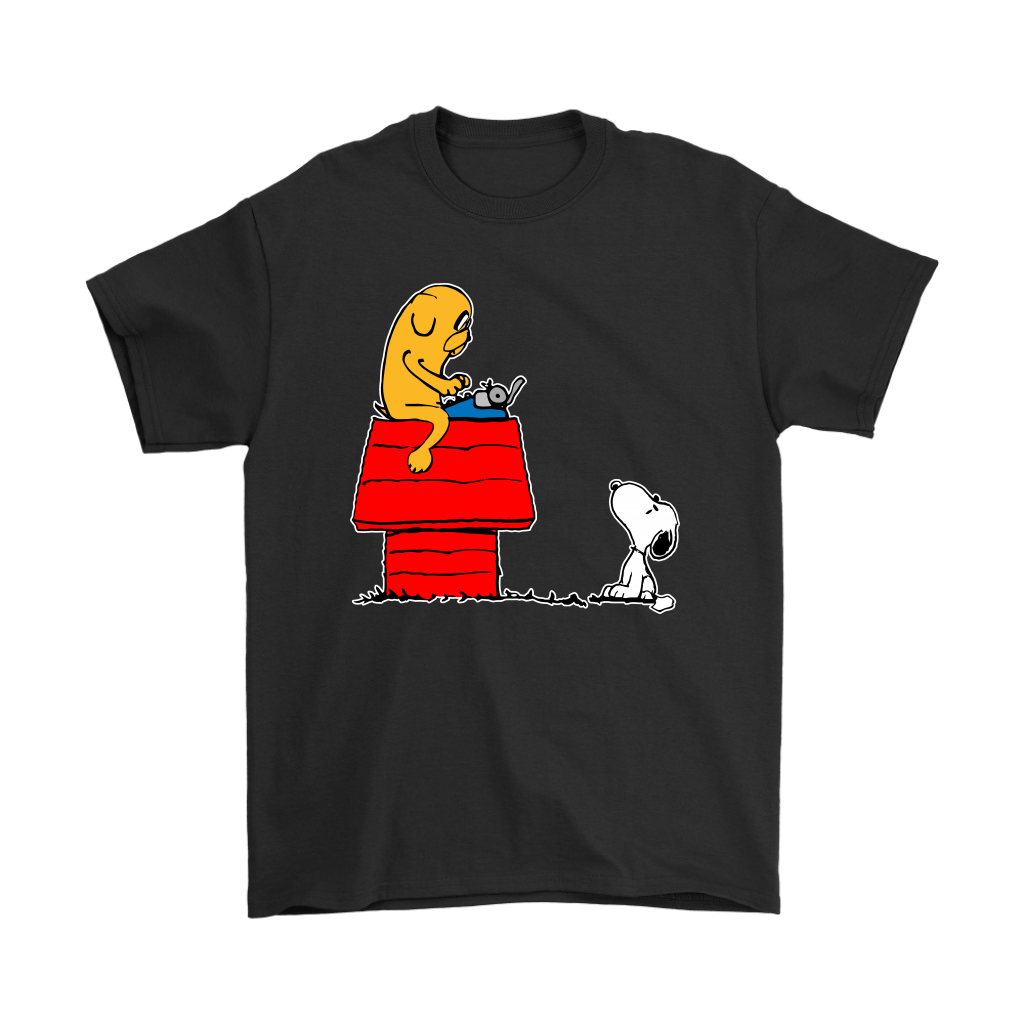 Jake And Snoopy Adventure Time Mashup Shirts 1