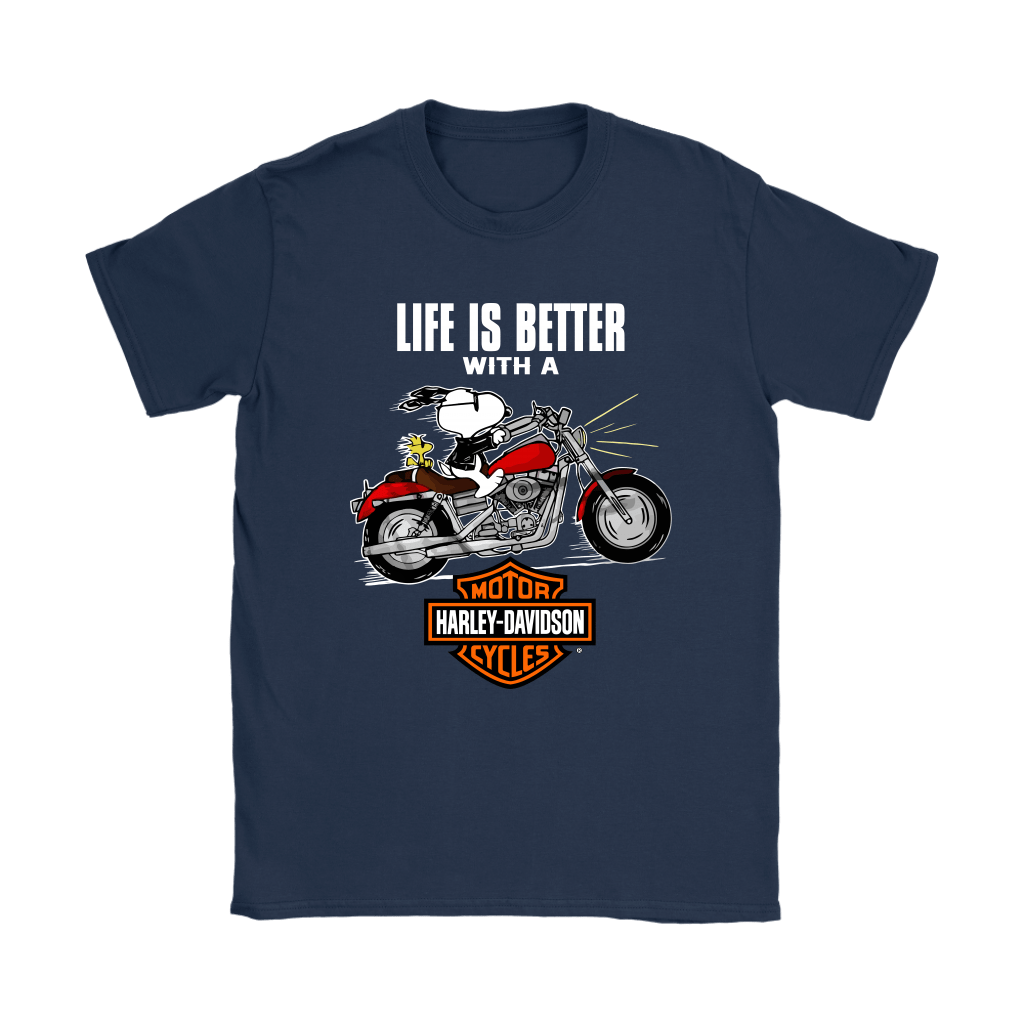 Joe Cool Life Is Better With A Harley Davidson Snoopy Shirts 10