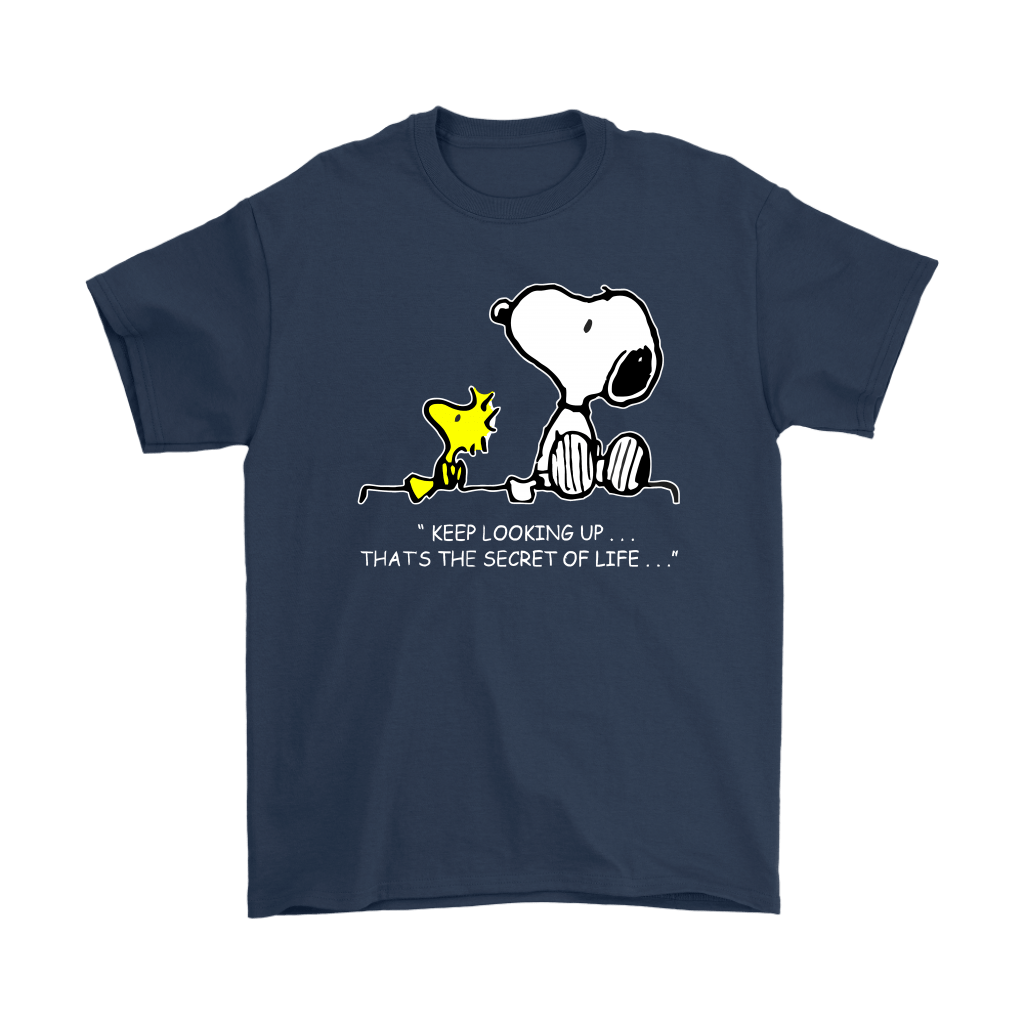 Keep Looking Up Thats The Secret Of Life Snoopy Shirts 3