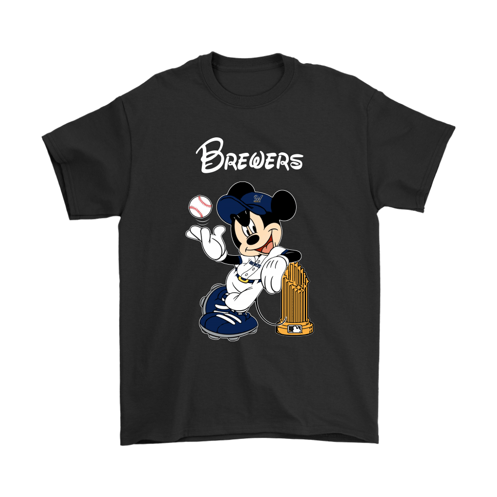 Milwaukee Brewers Mickey Taking The Trophy MLB 2018 Shirts 1