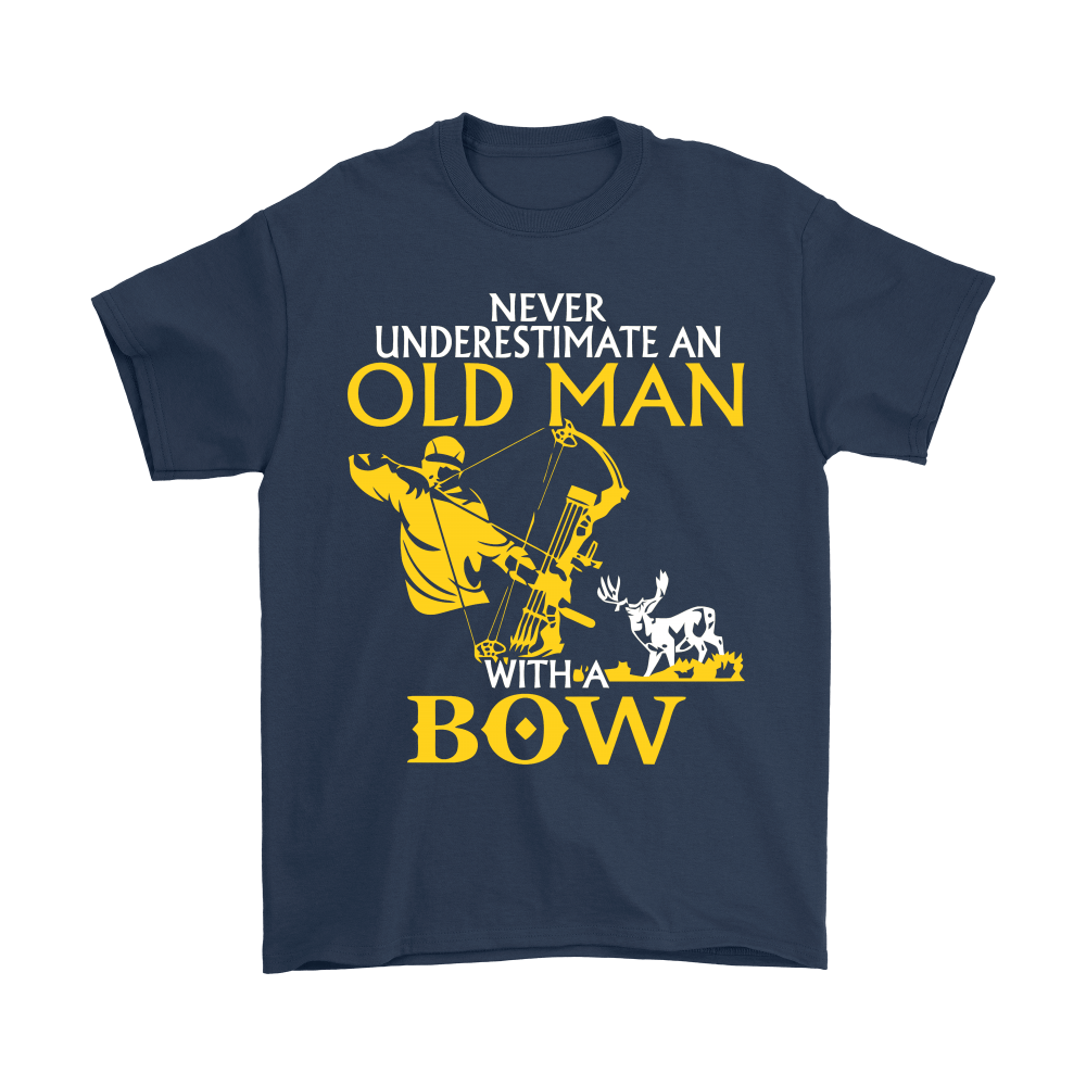 Never Underestimate An Old Man With A Bow Shirts 3