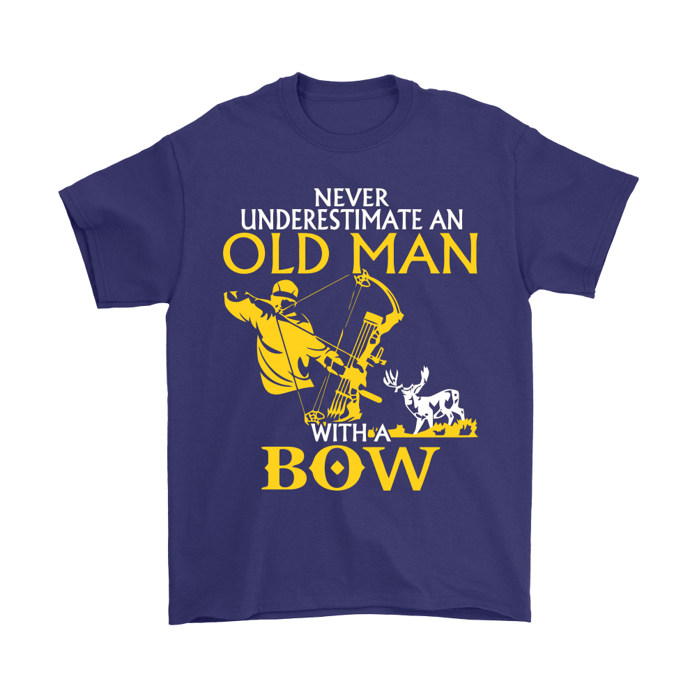 Never Underestimate An Old Man With A Bow Shirts 4