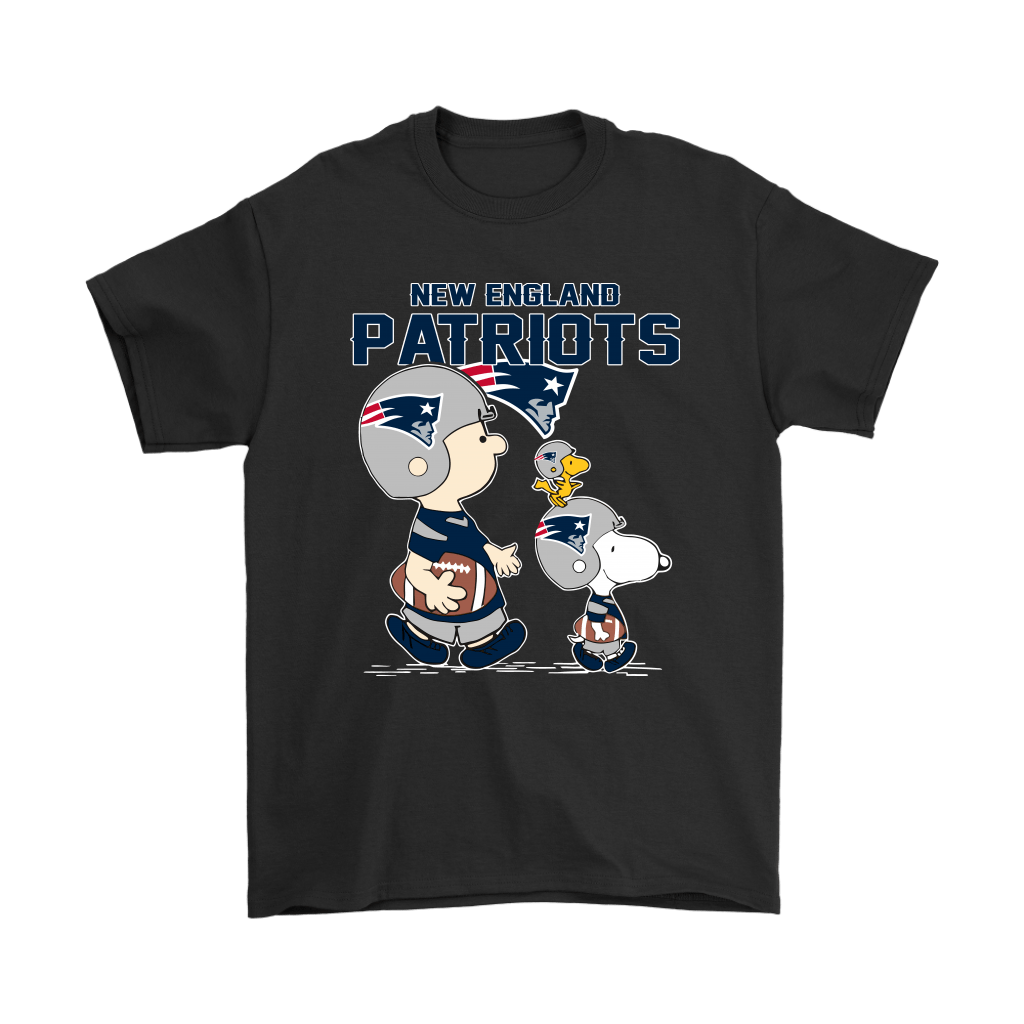 New England Patriots Let's Play Football Together Snoopy NFL Shirts 1