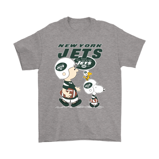 New York Jets Let's Play Football Together Snoopy NFL Shirts 6