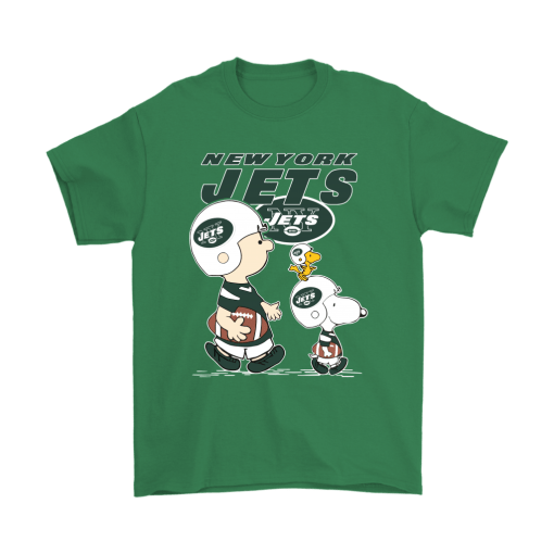 New York Jets Let's Play Football Together Snoopy NFL Shirts 7