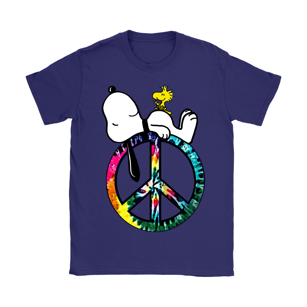 Peace And Love Hippie Style Sleeping Snoopy Shirts 12