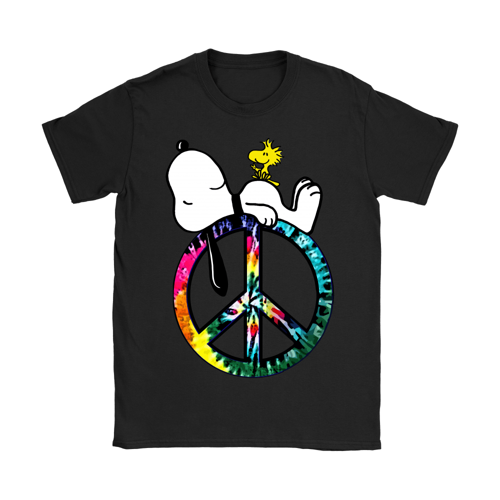 Peace And Love Hippie Style Sleeping Snoopy Shirts 9