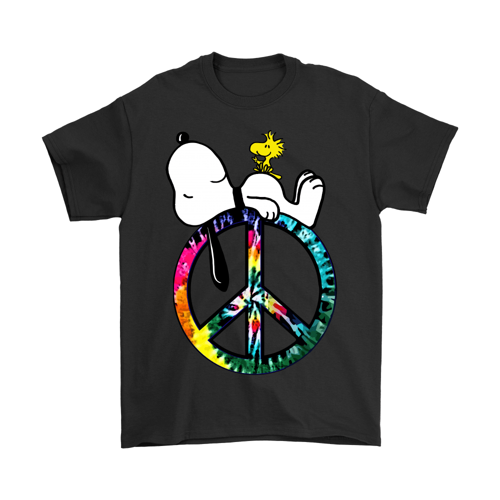 Peace And Love Hippie Style Sleeping Snoopy Shirts 1