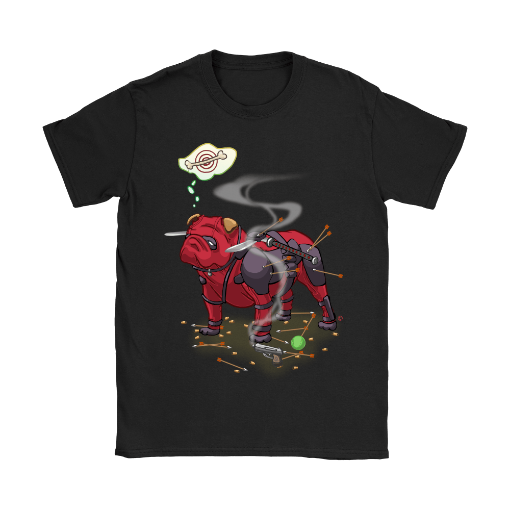 Pitbull Deadpool Target Dog Bone Shirts 6
