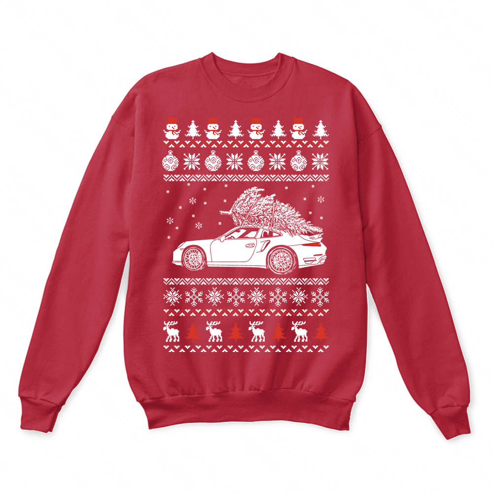 Porsche 911 Brings Christmas Home Ugly Sweater 4