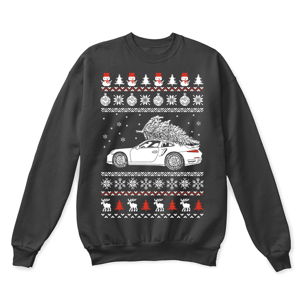 Porsche 911 Brings Christmas Home Ugly Sweater 1