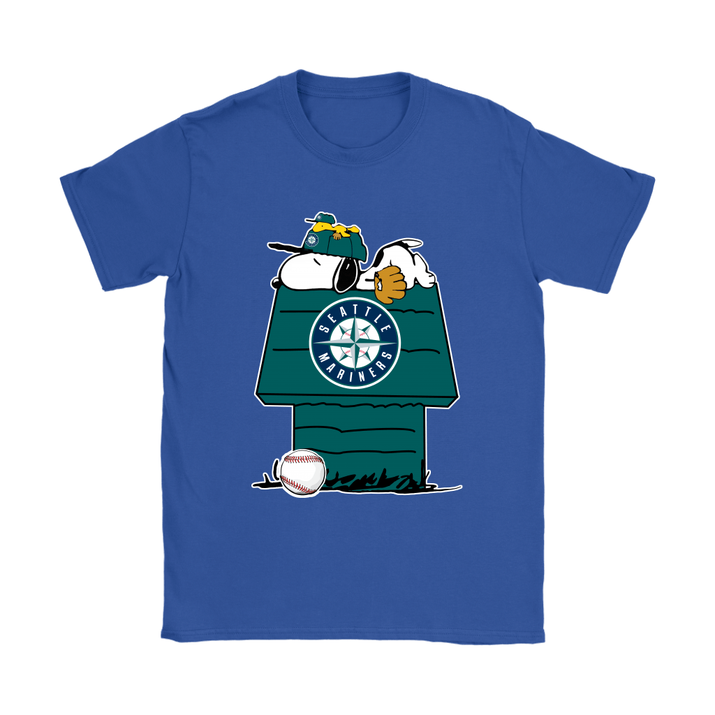 Seattle Mariners Snoopy And Woodstock Resting Together MLB Shirts 12