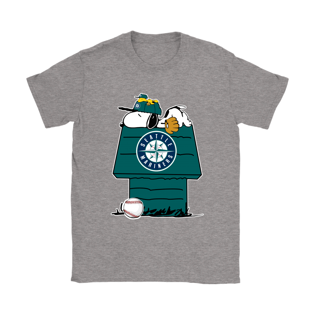 Seattle Mariners Snoopy And Woodstock Resting Together MLB Shirts 13