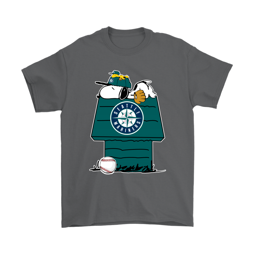 Seattle Mariners Snoopy And Woodstock Resting Together MLB Shirts 2