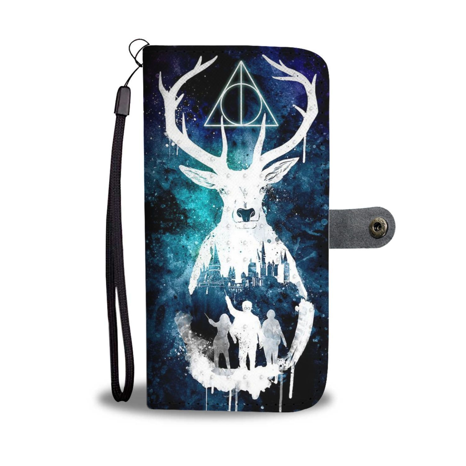 4e5630734 Sign of the Deathly Hallows Harry Potter Wallet Phone Case - Potatotee Store