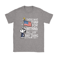 Stand For Nothing Fall For Anything U.S. Veteran Snoopy Shirts 27