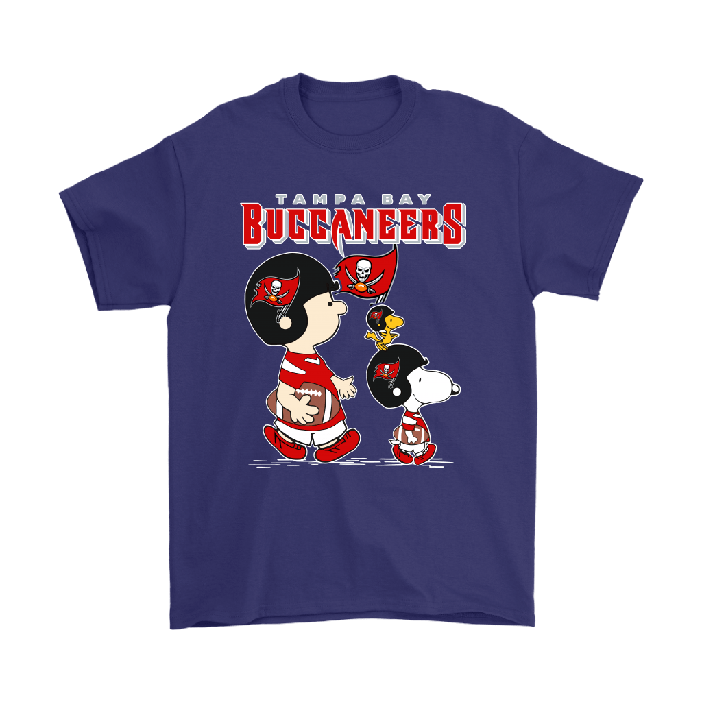 Tampa Bay Buccaneers Let's Play Football Together Snoopy NFL Shirts 4