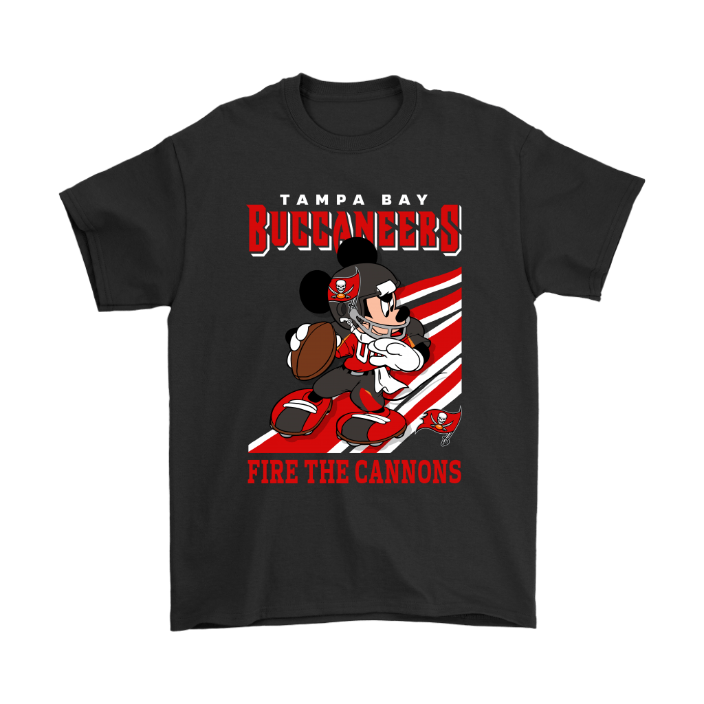 Tampa Bay Buccaneers Slogan Fire The Cannons Mickey Mouse NFL Shirts 1