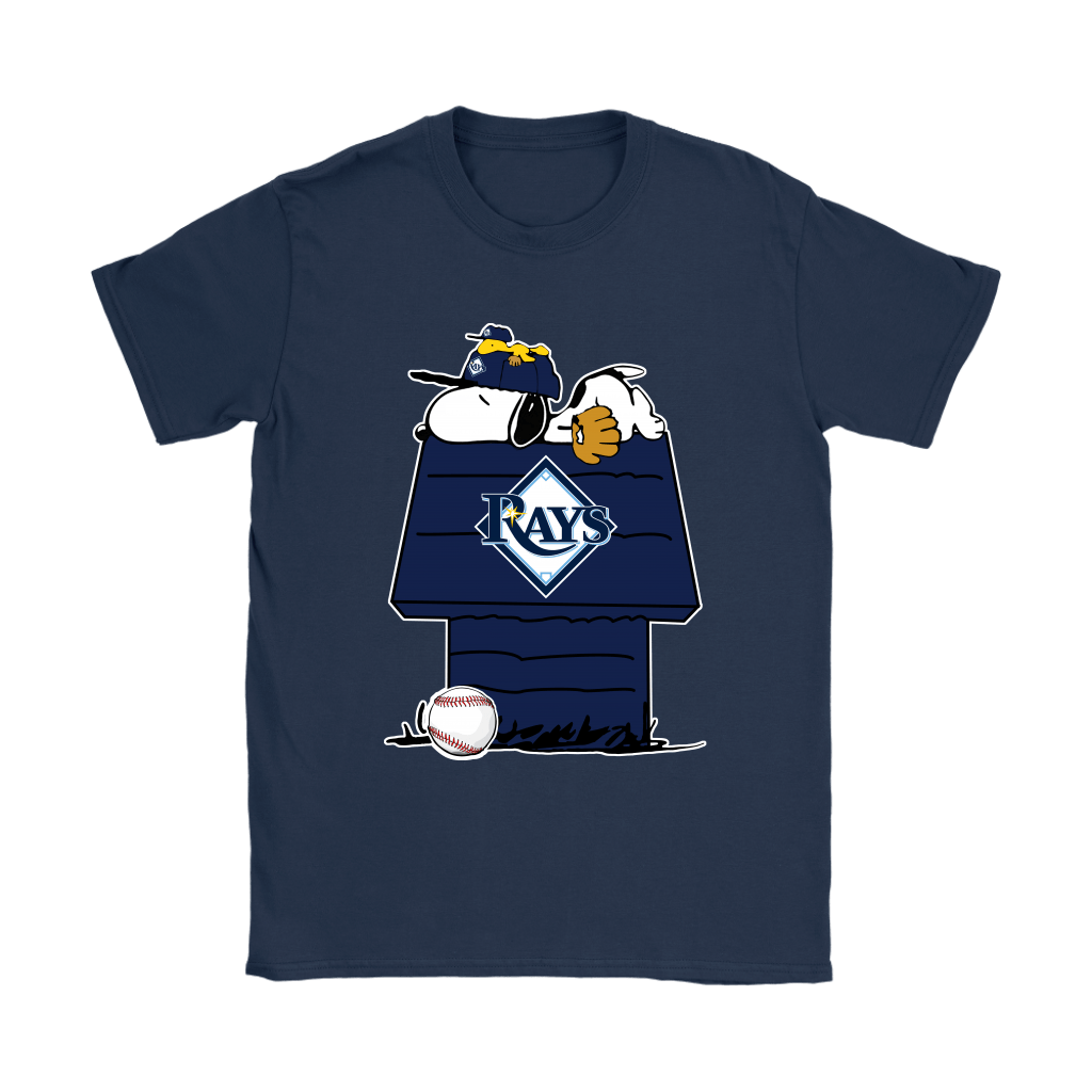 Tampa Bay Rays Snoopy And Woodstock Resting Together MLB Shirts 9