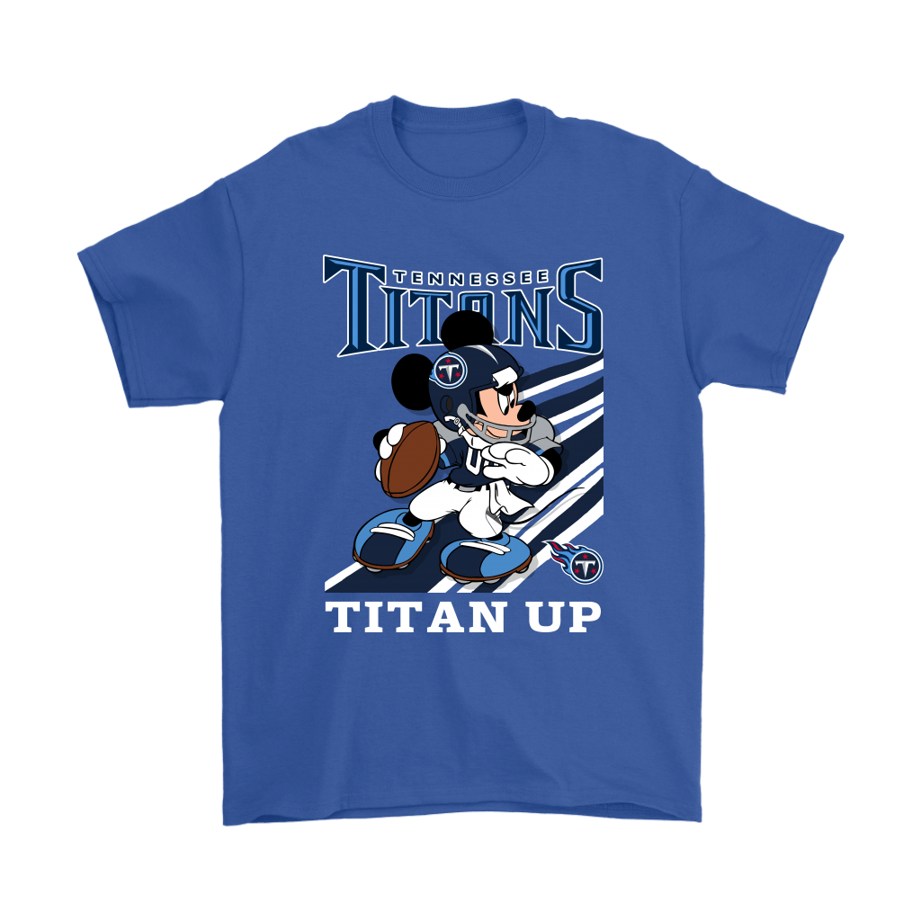 Tennessee Titans Slogan Titan Up Mickey Mouse NFL Shirts 6