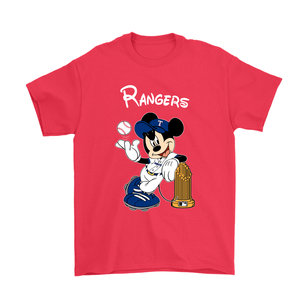 Texas Rangers Mickey Taking The Trophy MLB 2018 Shirts 5