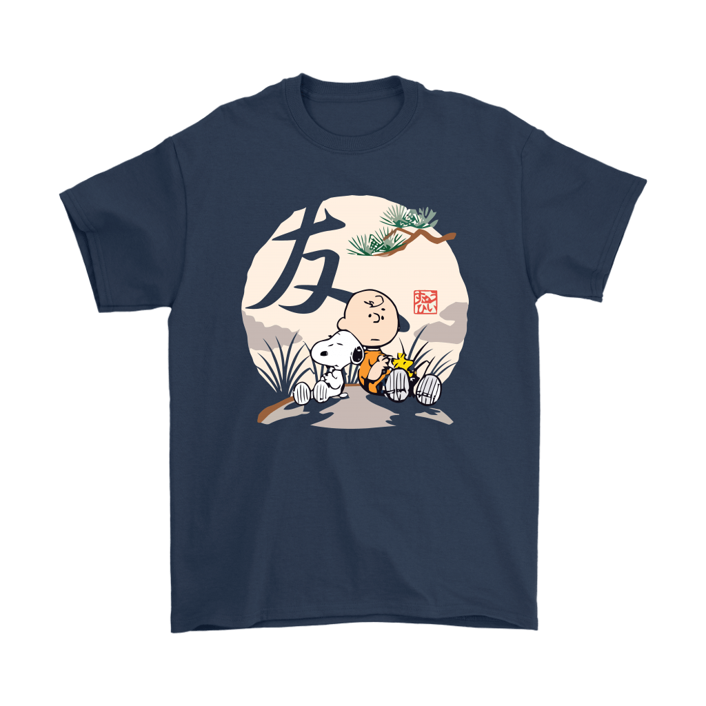 The Friendship Charlie Brown Woodstock And Snoopy Japanesque Shirts 3
