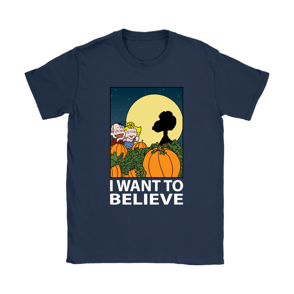The Great Pumpkin I Want To Believe Halloween Snoopy Shirts 10