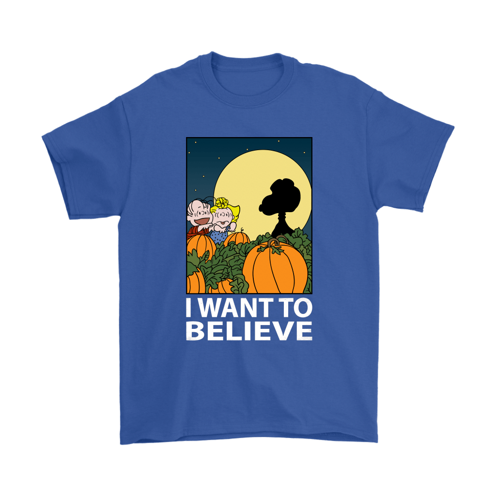 The Great Pumpkin I Want To Believe Halloween Snoopy Shirts 6