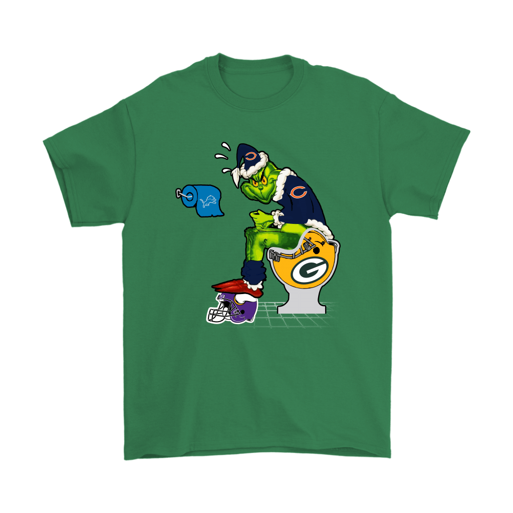 The Grinch Chicago Bears Shit On Other Teams Christmas Shirts 7