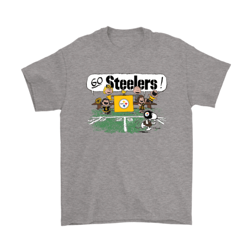 The Peanuts Cheering Go Snoopy Pittsburgh Steelers Shirts 1