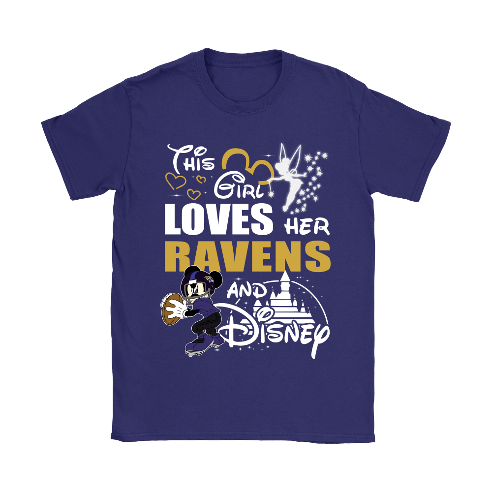 This Girl Loves Her Baltimore Ravens And Mickey Disney Shirts 12