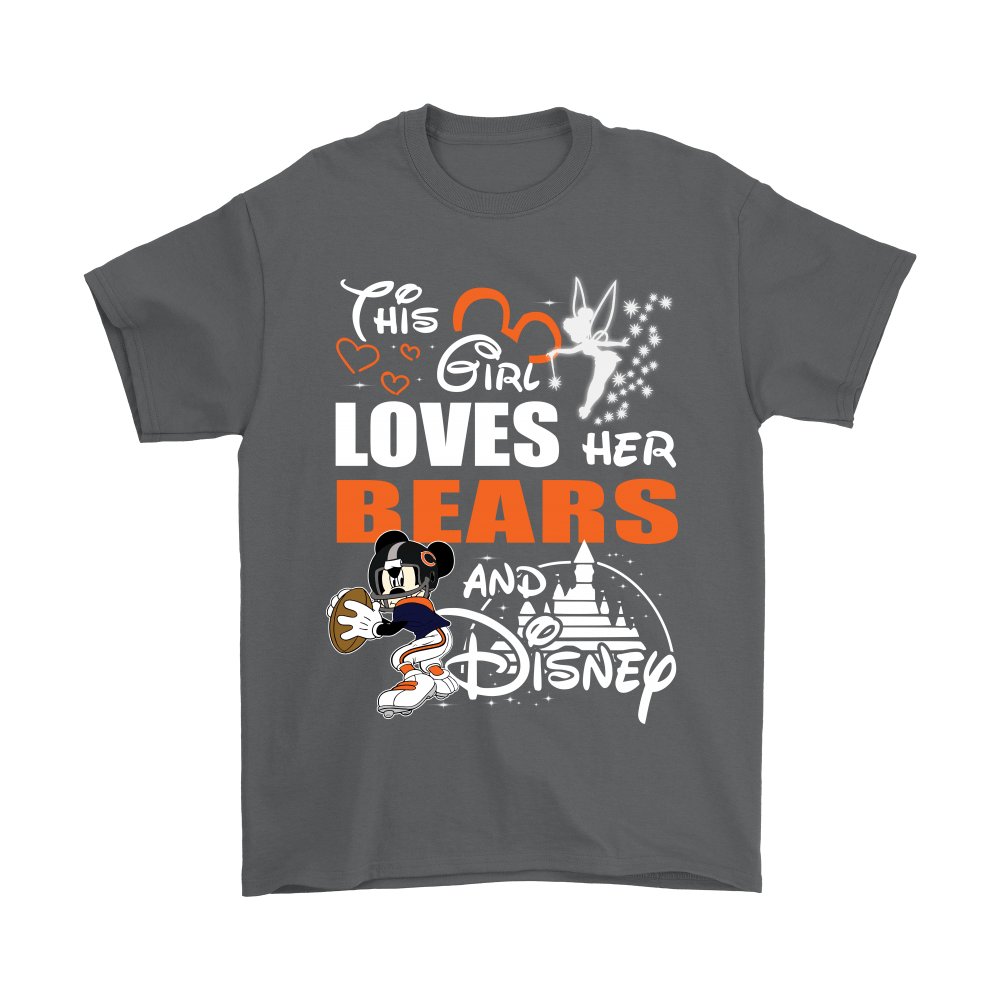 This Girl Loves Her Chicago Bears And Mickey Disney Shirts 13