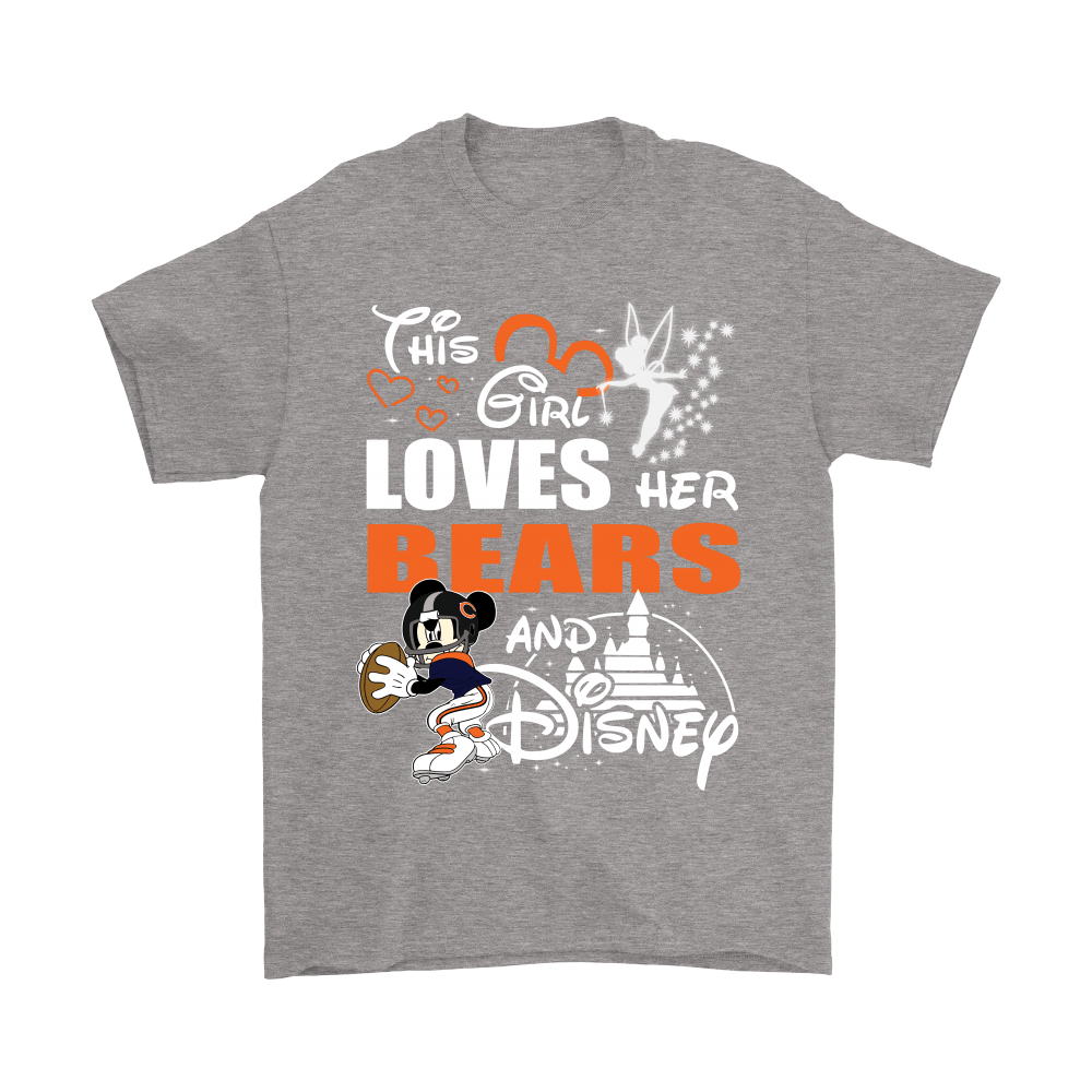 This Girl Loves Her Chicago Bears And Mickey Disney Shirts 6
