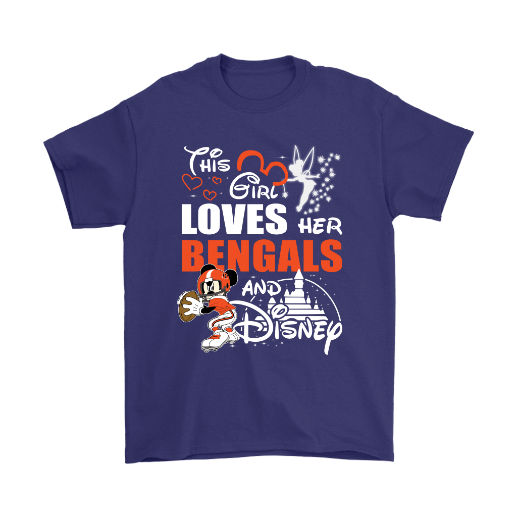This Girl Loves Her Cincinnati Bengals And Mickey Disney Shirts 4