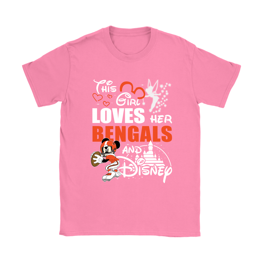 This Girl Loves Her Cincinnati Bengals And Mickey Disney Shirts 8